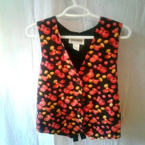 Women's Idea Nuova vest cute tomato print